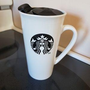 Starbucks ceramic 16 oz travel mug with lid